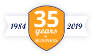 35 years of business - 1984 - 2019